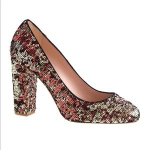 J Crew Etta Sequin Pumps